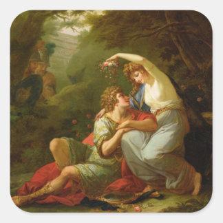 Rinaldo and Armida, 1771 (oil on canvas) Square Sticker