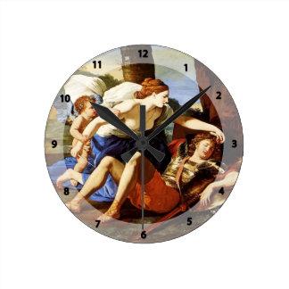 Rinaldo and Armida by Francesco Hayez Round Clock