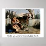 Rinaldo And Armida By Giovanni Battista Tiepolo Posters