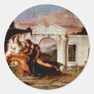 Rinaldo And Armida Draft Munich Eponymous Painting Classic Round Sticker