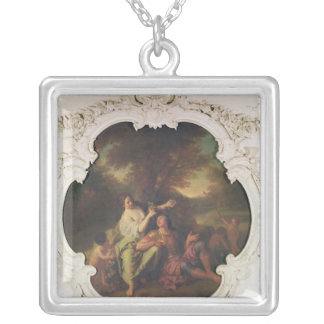 Rinaldo and Armida, from 'Gerusalemme Liberata' Silver Plated Necklace
