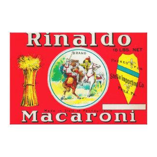 Rinaldo Macaroni LabelPhiladelphia, PA Canvas Print