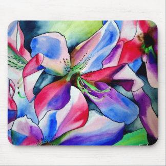Rinbow Azalea flower watercolour art painting Mouse Pad