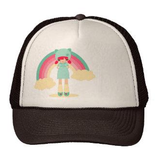 rinbow girl trucker hat