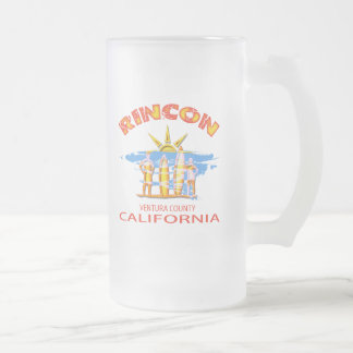 RINCON BEACH 16 OZ FROSTED GLASS BEER MUG