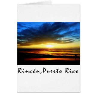Rincon Beach Puerto Rico Card