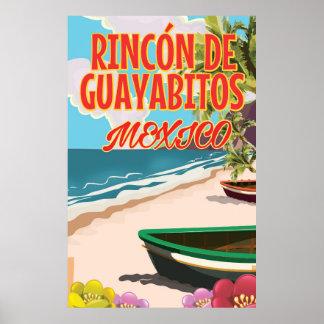Rincón de Guayabitos Beach Mexico travel poster