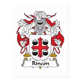 Rincon Family Crest Postcard