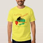 Rincón que practica surf, banda remera