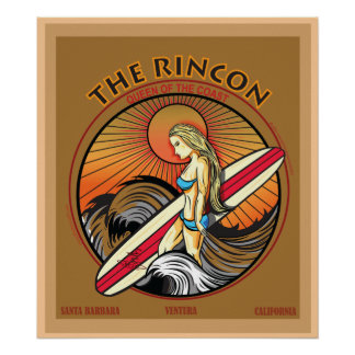 RINCON SAN CLEMENTE CALIFORNIA SURFING POSTERS