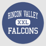 Rincon Valley Falcons Middle Santa Rosa Round Stickers