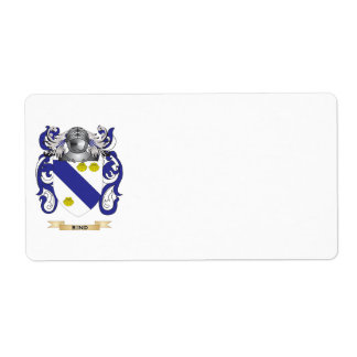 Rind Coat of Arms Family Crest Custom Shipping Labels