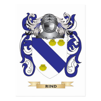 Rind Coat of Arms Family Crest Post Cards