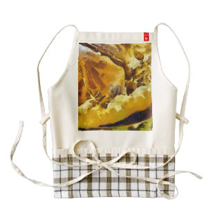 Rind of a fruit zazzle HEART apron