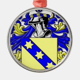 Rinehart Coat of Arms Round Metal Christmas Ornament