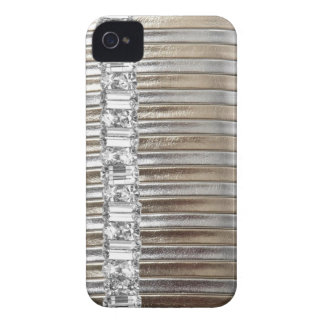 Rinestones Silver & Gold  faux Leather IPHONE CASE