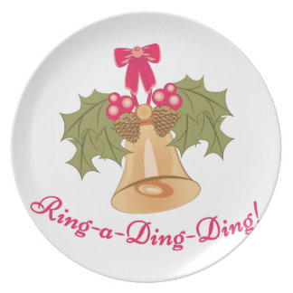 Ring-A-Ding-Ding Dinner Plate
