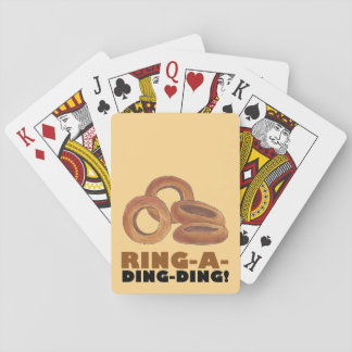 Ring-A-Ding-Ding Onion Ring Rings Junk Food Foodie Playing Cards
