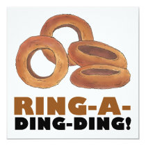 Ring-a-Ding-Ding Onion Rings Engagement Party Card