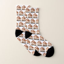 Ring-a-Ding-Ding Onion Rings Funny Wedding Bride Socks