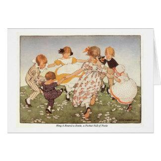 Ring A-Round a Rosie Nursery Rhyme Birthday Card