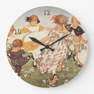 Ring-A-Round A Rosie Nursery Rhyme Large Clock