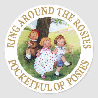 Ring Around the Rosies, Pocketful of Posies Classic Round Sticker