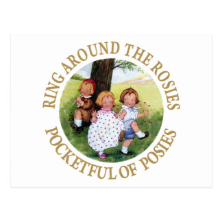 Ring Around the Rosies, Pocketful of Posies Postcard