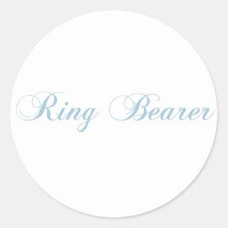 Ring Bearer Aquamarine Classic Round Sticker