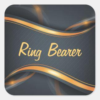Ring Bearer (b/g) Square Sticker