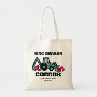 Ring Bearer Back Hoe Canvas Bag