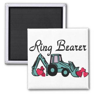 Ring Bearer Backhoe 2 Inch Square Magnet