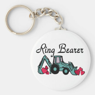 Ring Bearer Backhoe Keychain