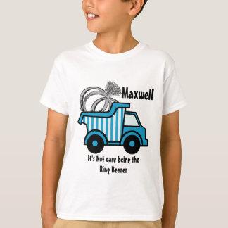 Ring Bearer Blue Dump Truck T-Shirt