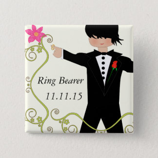 Ring Bearer  BowTie Wedding Badges Button