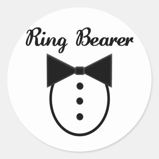Ring Bearer Classic Round Sticker