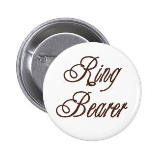 Ring Bearer Classy Browns Pinback Button