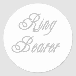 Ring Bearer Classy Grays Classic Round Sticker