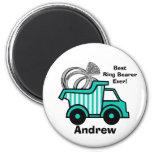 Ring Bearer Dump Truck 2 Inch Round Magnet