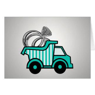 Ring Bearer Dump Truck Stationery Note Card