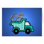 Ring Bearer Dump Truck Card