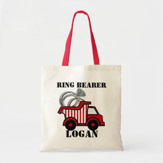 Ring Bearer Dump Truck Red Tote Bag