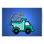 Ring Bearer Dump Truck Stationery Note Card