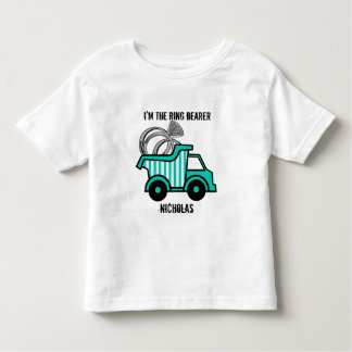 Ring Bearer Dump Truck Toddler T-shirt