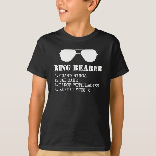 Ring Bearer Duties Funny Proposal T_Shirt