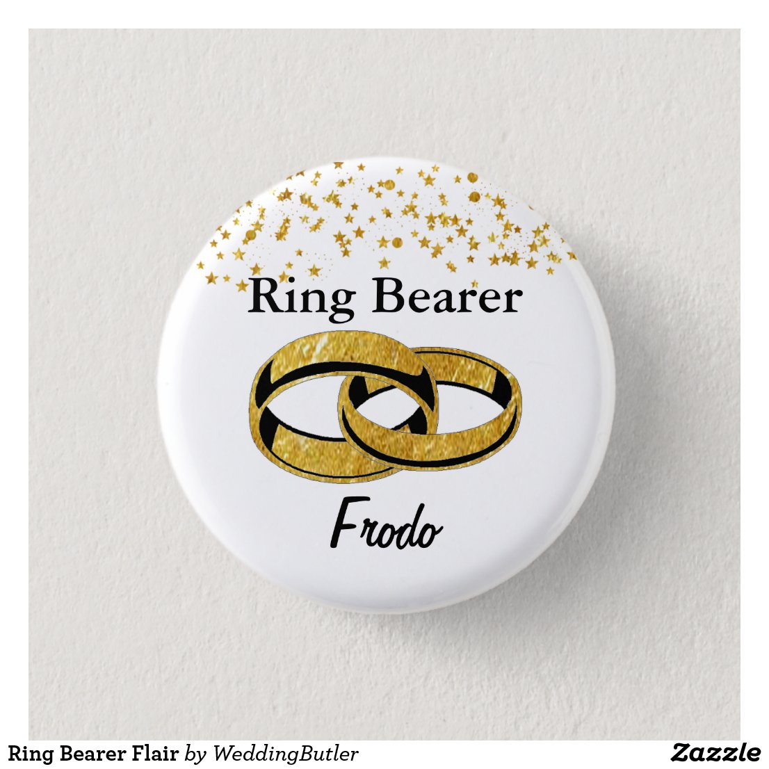Ring Bearer Flair Pinback Button