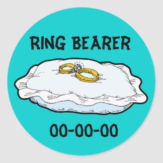 Ring Bearer Gifts and Favors Classic Round Sticker