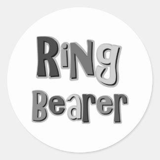 Ring Bearer Gray Sticker