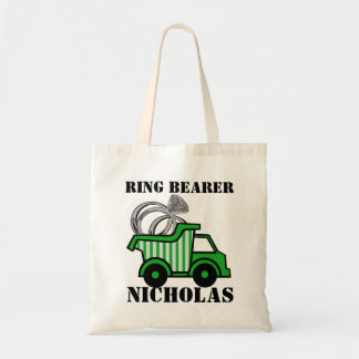 Ring Bearer Green Dump Truck Tote Bag