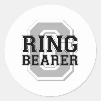 Ring Bearer Groom Cheer Round Sticker